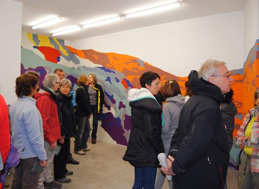 Visite de l'exposition de P. Garcia, Angle, 19/04/2015 © O. Mondon